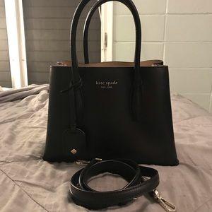 Kate spade adjustable sling bag black w/top handle